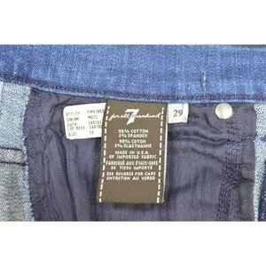 7 For All Mankind Jeans - 7 For All Mankind jeans cropped 29 x 24 NWT raw he
